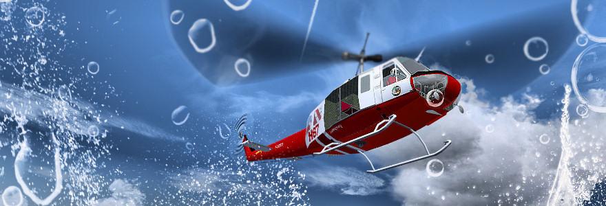 Hélicoptère largage FS9 FSX